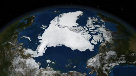 An image produced by data collected by NASA's Aqua satellite and released on September 16, 2007 shows ice conditions at the end of the Arctic melt season. REUTERS/NASA Goddard Space Flight Center (NASA-GSFC)/Handout