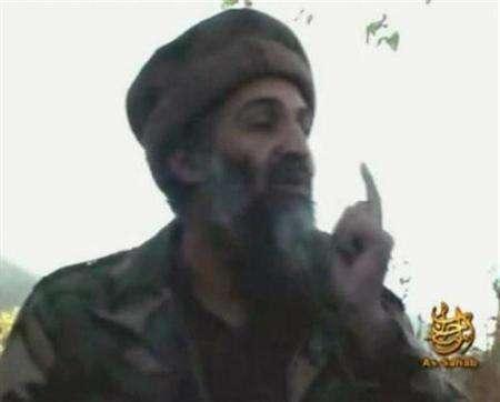 Al Qaeda leader Osama bin Laden in a video grab from undated footage obtained in 2007. Bin Laden threatened the European Union with grave punishment on Wednesday over cartoons of the Prophet Mohammad. REUTERS/REUTERS TV
