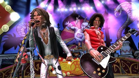 A frame grab from ''Guitar Hero: Aerosmith'' is seen February 15, 2008. REUTERS/ Handout