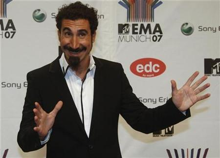 Serj Tankian from the alternative metal band 'System of a down' poses on the red carpet before the MTV Europe Awards ceremony in Munich November 1, 2007. REUTERS/Michael Dalder
