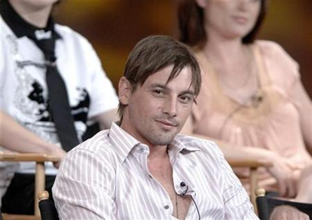 Cast member Skeet Ulrich listens to questions about the CBS production ''Jericho'' at the 2006 Summer CBS Television Critics Association press tour held in Pasadena, California July 15, 2006. REUTERS/Phil McCarten