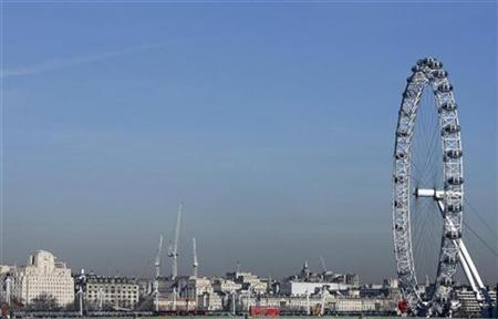 A general view of the London skyline with the London Eye, February 9, 2008. REUTERS/Luke MacGregor
