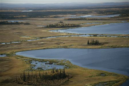 A general view of the Yukon Flats National Wildlife Refuge is seen in an undated handout photo. REUTERS/Steve Hillebrand/U.S. Fish and Wildlife Service/Handout