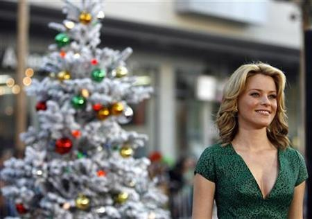 Actress Elizabeth Banks poses at the premiere of ''Fred Claus'' at Grauman's Chinese theatre in Hollywood, California November 3, 2007. REUTERS/Mario Anzuoni