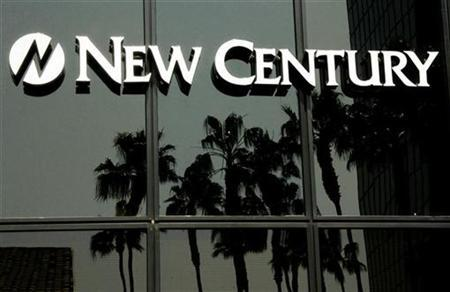 The signage and logo of New Century Financial Corporation are seen at the corporate headquarters in Irvine,California March 15, 2007. REUTERS/Fred Prouser