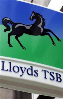 A Lloyds TSB bank logo is seen in central London December 10, 2007. REUTERS/Alessia Pierdomenico