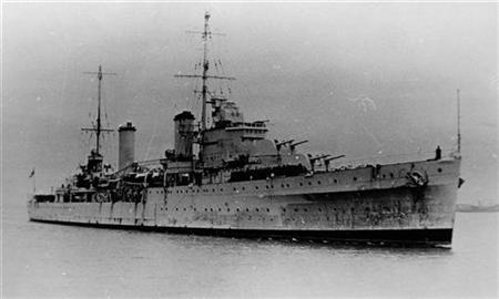 Australian warship HMAS Sydney (II) is pictured arriving in Sydney for the first time in 1936 in this undated handout photograph. REUTERS/Australian Department of Defence/Handout