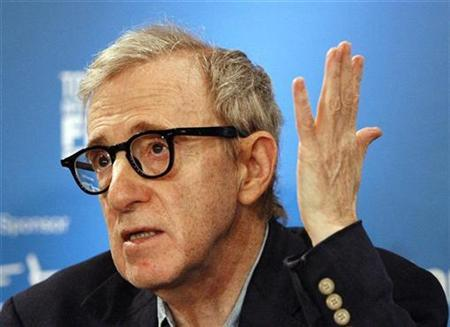 Director and writer Woody Allen gestures at a news conference for the movie ''Cassandra's Dream'' during the 32nd Toronto International Film Festival September 12, 2007. REUTERS./Mario Anzuoni