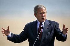 <p>Президент США Джордж Буш на пресс-конференции в городе Нептун 2 апреля 2008 года. Президент США Джордж Буш, покидающий свой пост в начале следующего года, попытался защитить свое положение на международной арене в среду, отстаивая политику Вашингтон в Ираке и Афганистане и призывая Россию согласиться с планами размещения элементов американской системы противоракетной обороны в Европе. (REUTERS/Mihai Barbu)</p>