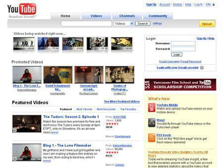 A screenshot of YouTube.com, taken on march 27, 2008. REUTERS/www.youtube.com