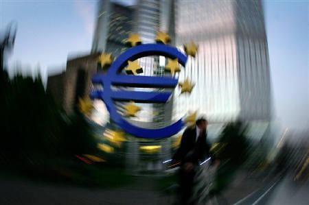 4月2日、ユーロ圏の財務相およびECBは11日に開催されるG7で最近のユーロ高に対する懸念を表明する見通し。写真は2006年10月にECB前で撮影(2008年 ロイター/Kai Pfaffenbach)
