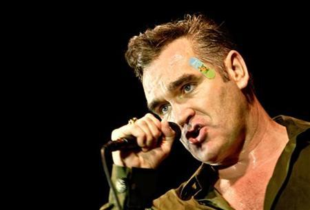 Singer Morrissey, former frontman of The Smiths, performs at a concert in Zagreb, Croatia, July 6, 2006. REUTERS/Nikola Solic