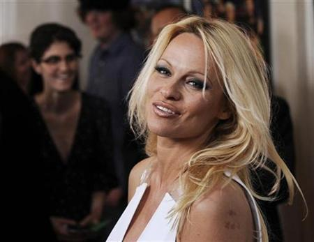 ''Superhero Movie'' cast member Pamela Anderson poses at the premiere of the film in Los Angeles, March 27, 2008. REUTERS/Chris Pizzello