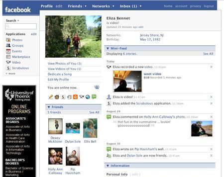 A Facebook profile is seen in a handout photo. REUTERS/Handout