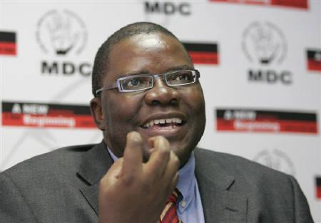 Zimbabwe opposition Movement for Democratic Change (MDC) Secretary-General Tendai Biti speaks at a media conference in the capital Harare April 8, 2008. REUTERS/Howard Burditt