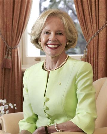 Undated file photo of northern Queensland state Governor Quentin Bryce. Australia is to have its first female governor-general, who is the representative of Britain's Queen Elizabeth II, the country's head of state. Prime Minister Kevin Rudd announced on Sunday that Bryce, a former head of the federal sex discrimination commission, has been appointed to a five-year term. REUTERS/Chris Stacy-University Of Queensland/Handout .