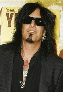 Nikki Sixx of the group ''Motley Crue'' poses at the premiere of the film 'Yellow'' in Los Angeles, California June 19, 2007. REUTERS/Fred Prouser