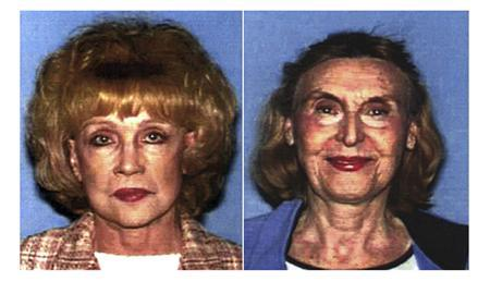75-year-old Helen Golay (L) and 73-year-old Olga Rutterschmidt are pictured in undated Los Angeles Police Department booking photographs. REUTERS/LAPD/Handout