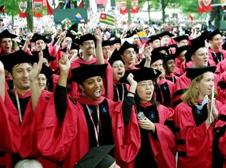 Harvard University Students Graduating