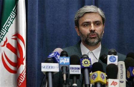 Iran's Foreign Ministry spokesman Mohammad Ali Hosseini speaks to journalists during a news conference in Tehran February 12, 2007. REUTERS/Raheb Homavandi