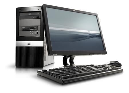 An HP dx2400/dx2450 with AMD Business Class is seen in an undated handout photo. REUTERS/Business Wire/Handout
