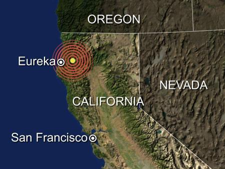 A moderate earthquake struck near the coastal city of Eureka in Northern California on Tuesday but there were no immediate reports of damage. REUTERS/Graphics