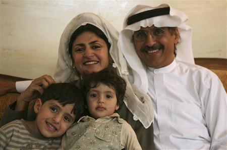 Hatoon Ajwad al-Fassi, author of ''Women in Pre-Islamic Arabia: Nabataea'' smiles with her family during an interview at her residence in Riyadh April 20, 2008. In her study, ''Women In Pre-Islamic Arabia'', the outspoken rights advocate argues women in the pre-Islamic period enjoyed considerable rights in the Nabataean state, an urban Arabian kingdom centred in modern Jordan, south Syria and northwest Saudi Arabia during the Roman empire. REUTERS/Fahad Shadeed