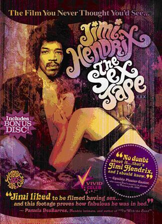 The cover of ''Jimi Hendrix: The Sex Tape'' from Vivid Entertainment. The videotape, said to contain footage of rock guitar great Jimi Hendrix having sex with two women, was released over the Internet on Tuesday. The 11 minutes of footage of a man resembling Hendrix cavorting with two unidentified brunettes in a dimly lit bedroom is packaged in a 45-minute DVD distributed by Los Angeles adult-film studio Vivid Entertainment. REUTERS/Vivid Entertainment/Handout