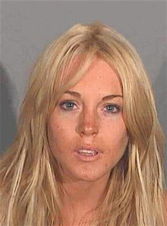 Actress Lindsay Lohan is pictured in this police booking photograph released July 24, 2007. REUTERS/Santa Monica Police Dept./Courtesy TMZ.com/Handout