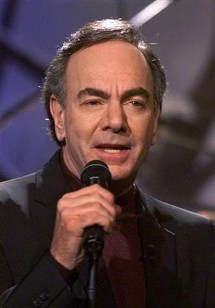 Singer Neil Diamond performs on ''The Tonight Show with Jay Leno'' at NBC studios in Burbank December 17, 2001. REUTERS/Fred Prouser