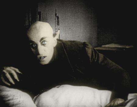 Max Schreck as Count Orlok in a scene from F.W. Murnau's 1922 silent classic ''Nosferatu: A Symphony of Horror''. The first screen portrayal of Dracula was so eerie, some critics asked whether the actor himself could be a vampire. But since his death, little has been done to resurrect Schreck's reputation -- until now. REUTERS/Handout/File