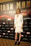 "<p>Gwyneth Paltrow alla presentazione di ""Iron Man"" a Berlino. REUTERS/Johannes Eisele (GERMANY)</p>"