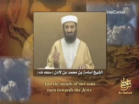 Osama bin Laden is seen speaking in a video grab provided to Reuters on September 11, 2007. Bin Laden will issue a ''very strong'' statement to Muslims across the world soon, an Islamist website said on Sunday. REUTERS/Internet