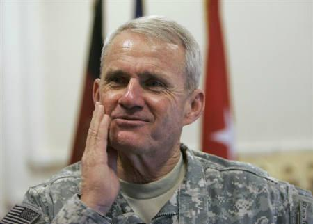 U.S General Dan McNeill, head of NATO's International Security Assistance Force, speaks during an interview in Kabul in this October 27, 2007 file photo. REUTERS/Omar Sobhani