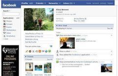 <p>Un profilo Facebook. REUTERS/Facebook</p>