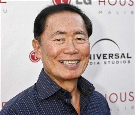 Actor George Takei, one of the stars of the drama series ''Heroes'' poses at the Universal Media Studios Emmy party celebrating the studio's Emmy nominees in Malibu, California August 2, 2007. REUTERS/Fred Prouser