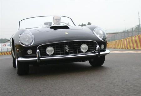A Ferrari 250 GT California Spyder, once owned by U.S. actor James Coburn, is seen in this undated handout from RM Auctions, received May 19, 2008. The rare black convertible fetched nearly $11 million at auction, making it the most valuable vintage car ever sold under the hammer, organisers said on May 19, 2008. REUTERS/Handout/RM Auctions. FOR EDITORIAL USE ONLY. NOT FOR SALE FOR MARKETING OR ADVERTISING CAMPAIGNS.