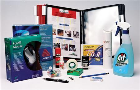 A variety of Corporate Express office supplies are seen in an undated handout photo. REUTERS/Corporate Express/Handout