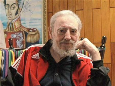 Cuban leader Fidel Castro poses in this photo taken by Brazilian President Luiz Inacio Lula da Silva during their meeting in Havana January 15, 2008. REUTERS/Luiz Inacio Lula da Silva/CubaVision TV/Handout