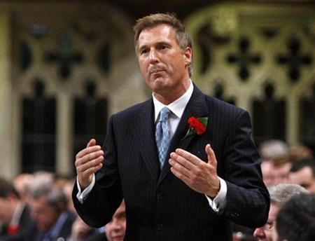 Canada's Foreign Minister Maxime Bernier speaks during Question Period in the House of Commons on Parliament Hill in Ottawa May 7, 2008. REUTERS/Chris Wattie