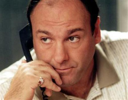 Actor James Gandolfini as Tony Soprano in the the hit television series ''The Sopranos''. The fate of the North Jersey mob boss may have been unclear when hit the series ended last year, but his wardrobe is headed for a certain ending: it's being auctioned for charity. REUTERS/HO/File