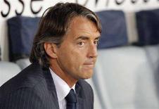 <p>L'ex allenatore dell'Inter Roberto Mancini. REUTERS/Alessandro Bianchi</p>