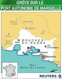 <p>GRÈVE SUR LE PORT AUTONOME DE MARSEILLE</p>