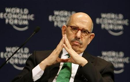 International Energy Agency Director General Mohamed ElBaradei speaks during the World Economic Forum (WEF) on the Middle East in Sharm el-Sheikh, May 19, 2008. REUTERS/Ammar Awad
