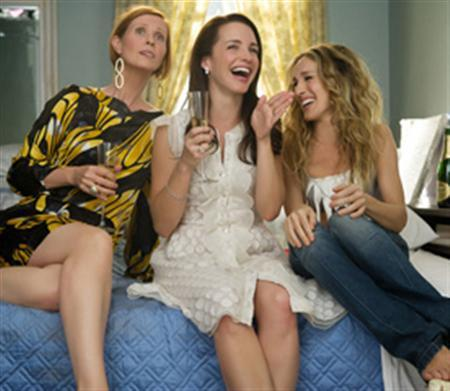 Cynthia Nixon, Kristin Davis and Sarah Jessica Parker in a scene from ''Sex and the City''. REUTERS/New Line Cinema/Handout