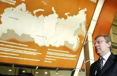 <p>Министр финансов России Алексей Кудрин на экономическом форуме в Красноярске 15 февраля 2008 года. Глава Министерства финансов РФ не исключает в перспективе сокращения количества отраслей, доступ к которым будет ограничен для иностранных инвесторов. (REUTERS/Ilya Naymushin)</p>