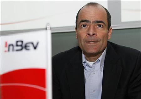 Carlos Brito, chief executive officer of InBev, the world's second-largest beer producer by volume, is pictured before the start of the annual shareholders meeting in Brussels April 29, 2008. REUTERS/Francois Lenoir