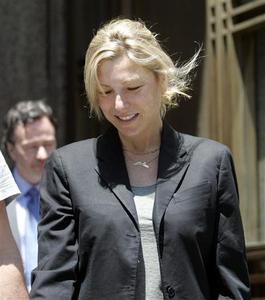 Academy Award winning actress Tatum O'Neal departs from the criminal court after being arrested on drug related charges in New York June 2, 2008. REUTERS/Chip East