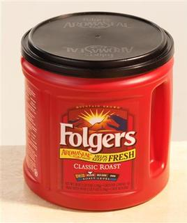 A Folgers Aromaseal coffee container is seen in a handout photo. REUTERS/PRNewsFoto