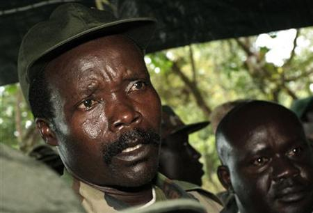 Leader of the Lord's Resistance Army Joseph Kony speaks to journalists at Ri-Kwamba in southern Sudan, November 12, 2006. REUTERS/Stuart Price/Pool